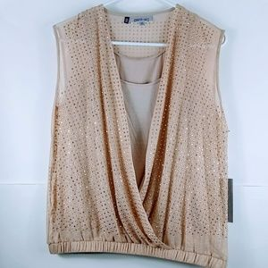 NWT! Jennifer Lopez Gold Blouse XS (fits like med)